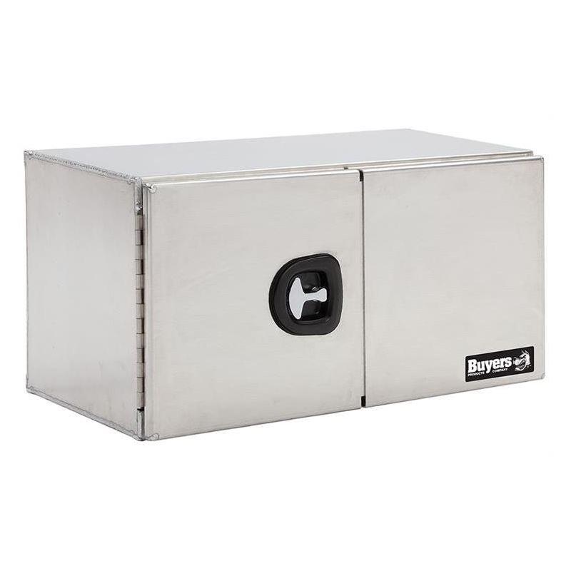 Smooth Aluminium Double Barn Door Tool Box 24 H x